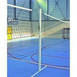School aluminium central volleyball post without sheaths Sporti France
