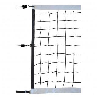 Volleyball competition net 9.50x1m pp braided 4mm single mesh 100 steel cable Sporti France