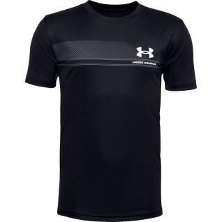 Under Armour Boy's Short Sleeve Tech Lockup Stripe T-Shirt
