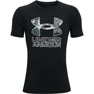 Tech Hybrid Print Fill Short Sleeve Under Armour Boy's T-Shirt