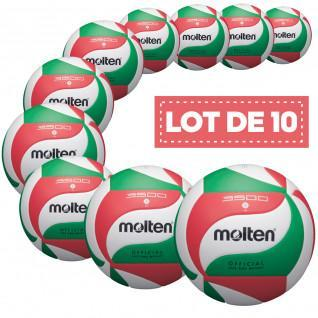 Set of 10 training balls Molten V5M3500
